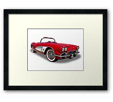 Chevrolet - 1961 Corvette Roadster Convertable Framed Print