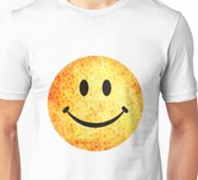 Smiley face - hippie sunflowers Unisex T-Shirt