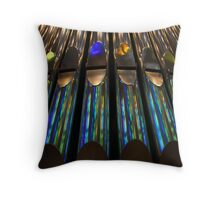 Rainbow Pipes Throw Pillow