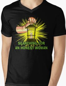 Searching For An Honest Woman Mens V-Neck T-Shirt