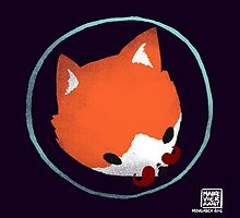 Space Fox Logo - Movember Edition 2015 by Maike Vierkant