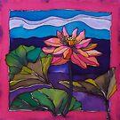 Lotus: Kakadu. Silk painting 2006 Ⓒ by Elizabeth Moore Golding