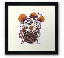 The Snail House Framed Print