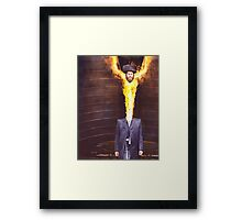 M Blackwell - He Felt Great! Framed Print