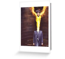 M Blackwell - He Felt Great! Greeting Card