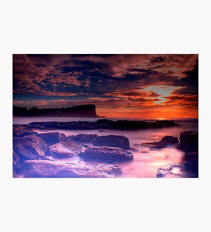 Avalon Beach Sunrise HDR Photographic Print