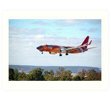 Qantas B737-800 'Yananyi Dreaming'  Art Print