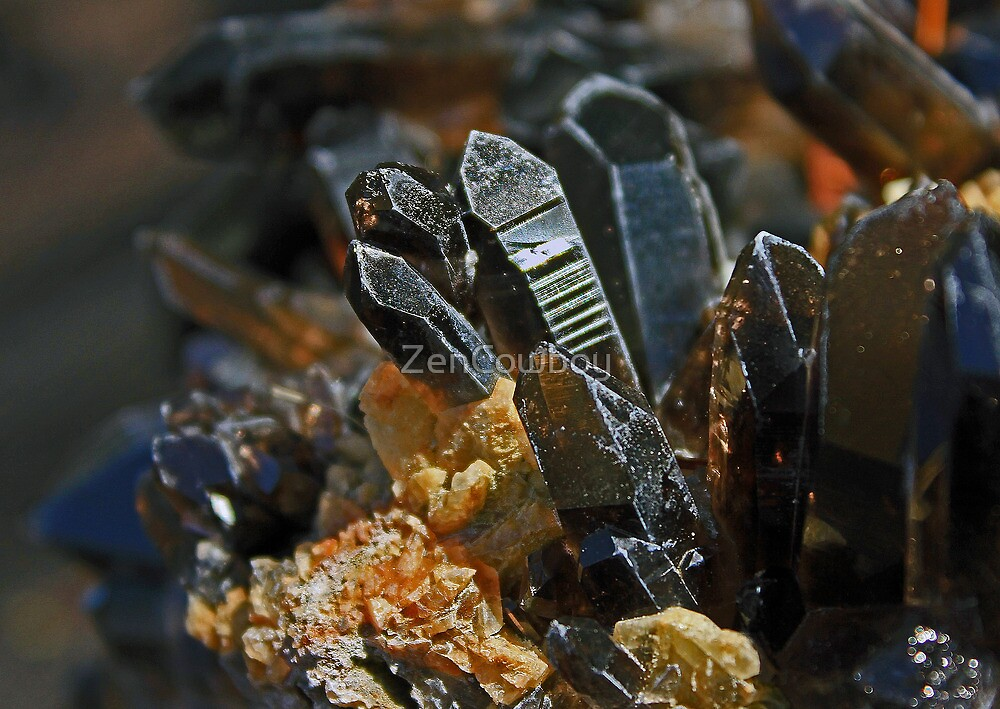 Family of Smokey Quartz Crystals by ZenCowboy