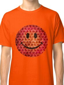 Smiley face - Escher graphic pattern Classic T-Shirt