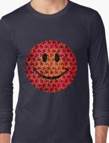 Smiley face - Escher graphic pattern Long Sleeve T-Shirt