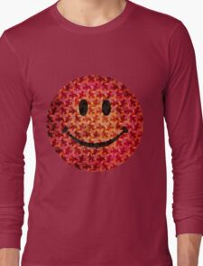 Smiley face - Escher graphic pattern Long Sleeve T-Shirt