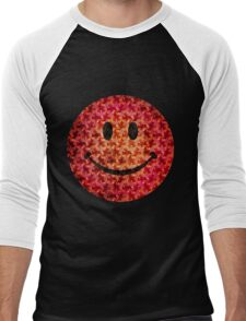 Smiley face - Escher graphic pattern Men's Baseball ¾ T-Shirt