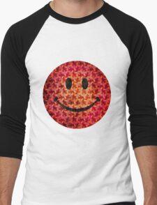 Smiley face - Escher graphic pattern Men's Baseball ¾ T-Shirt