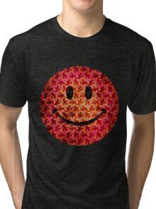 Smiley face - Escher graphic pattern Tri-blend T-Shirt