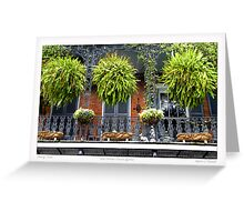 French Quarter Balcony Greeting Card