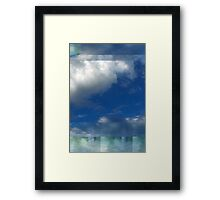 Abstracted Composition With Clouds – March 26, 2012 Framed Print