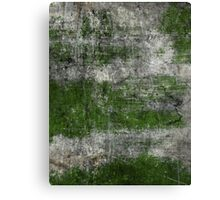 Scratched Metal - Green Canvas Print