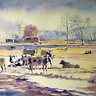Winter Pastoral,Nowra N.S.W. Australia by Audrey  Russill