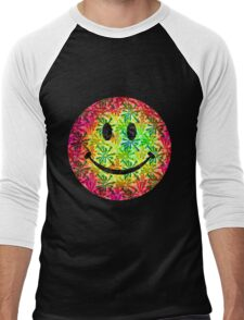 Smiley face - retro Men's Baseball ¾ T-Shirt
