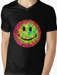 Smiley face - retro Mens V-Neck T-Shirt
