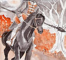 The Headless Horseman Watercolor Painting by lysswhitart