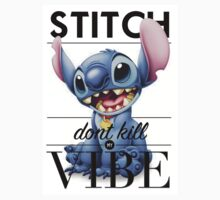 Stitch Don't Kill My Vibe Kids Tee