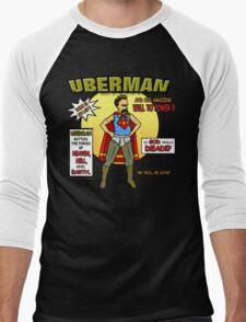 Uberman Men's Baseball ¾ T-Shirt