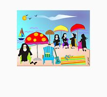 "Whimsical Nun Art  ""At The Beach"" Unisex T-Shirt"
