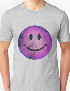 Smiley face - purple grunge T-Shirt