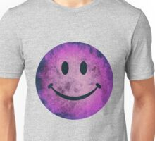 Smiley face - purple grunge Unisex T-Shirt