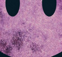 Smiley face - purple grunge Sticker