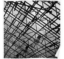 Steel Structure in black and white Poster
