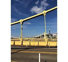 Yellow bridge in Pittsburgh  Photographic Print