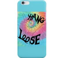 hang loose tie dye iPhone Case/Skin