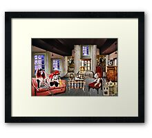 LOST IN DOLL LAND Framed Print