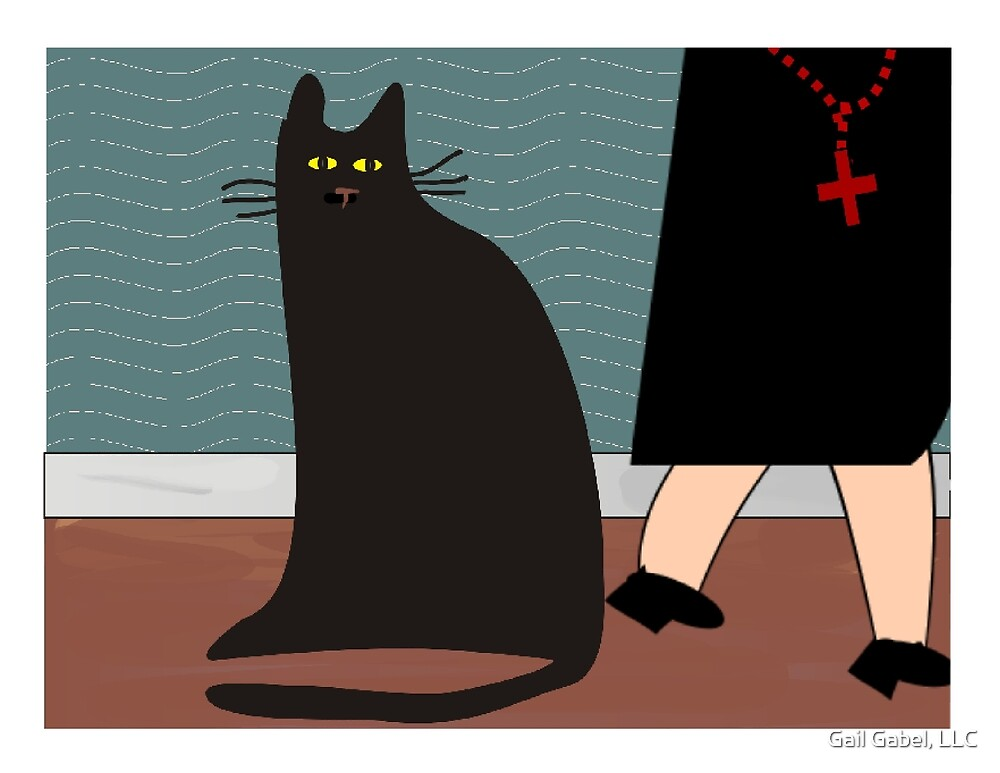 """""""The Nun and the Cat"""" by Gail Gabel, LLC"""