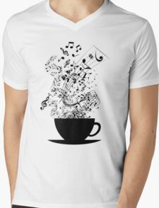 Cup of Music Mens V-Neck T-Shirt