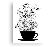 Cup of Music Canvas Print