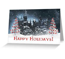 Happy Holidays from Hogwarts! Greeting Card