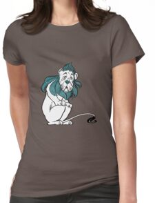 Cowardly Lion Illustration Womens Fitted T-Shirt
