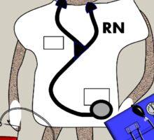 Sock Monkey Nurse Sticker