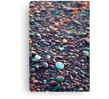 Washed Stones at Sunset - Waterville, Co. Kerry Canvas Print
