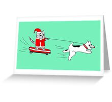 Cat Santa Greeting Card