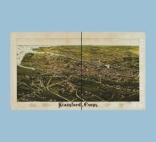 Panoramic Maps Stamford Conn One Piece - Short Sleeve