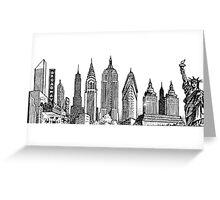 New York City Skyline Sticker Greeting Card
