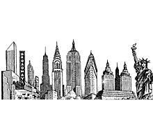 New York City Skyline Sticker Photographic Print