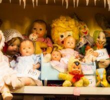 Dolls on the Shelf Sticker