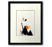 If Up Were Along Framed Print