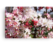 Mother's Day Card 5 Canvas Print