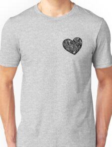 Geometric Solid Heart_Black_FLC Unisex T-Shirt